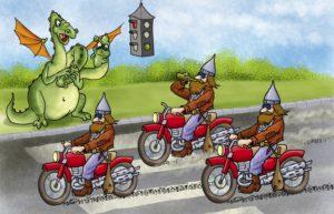 три богатыря на мотоциклах картинка зависят особенностей